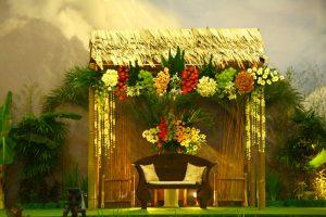 dekorasi bambu pernikahan