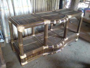 rak tv bambu