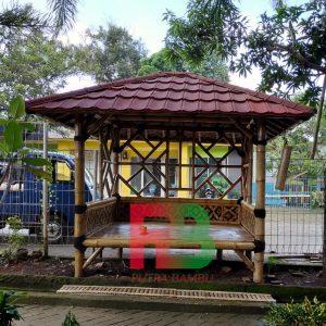 gazebo bambu atap metal